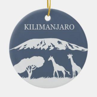 Kilimanjaro (Blue) Ceramic Ornament