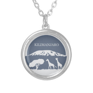 Kilimanjaro (Blue) Round Pendant Necklace