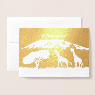 Kilimanjaro Foil Card