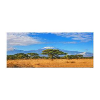 Kilimanjaro Mountain Tanzania Kenya Travel Africa Canvas Print