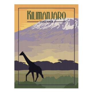 Kilimanjaro Tanzania - Vintage Travel Postcard