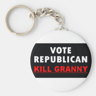 Kill Granny - Vote Republican Basic Round Button Key Ring