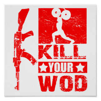"Kill Your WOD - AK47 ""Elite Fitness"" Poster"