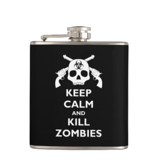 Kill Zombies Hip Flask