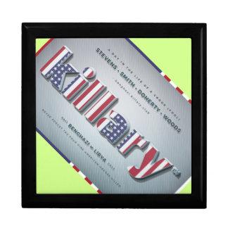 Killary Crooked Hillary Benghazi TRUMP 4 PRESIDENT Large Square Gift Box