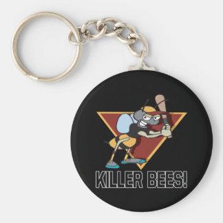 Killer Bees Basic Round Button Key Ring