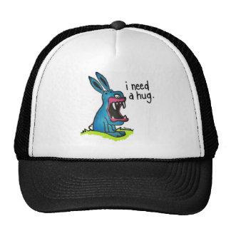 Killer Blue Bunny Needs a Hug Hat