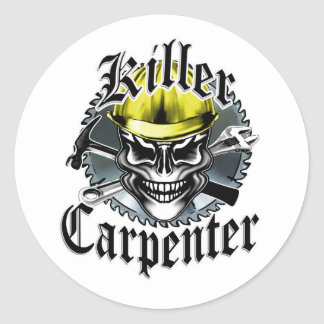 Killer Carpenter Classic Round Sticker
