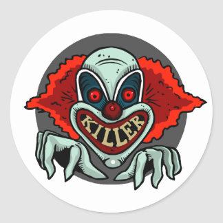 Killer Clown Classic Round Sticker