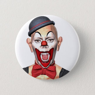 Killer Clown looking to the front 6 Cm Round Badge