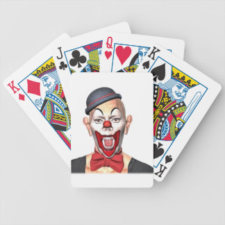 Killer Clown looking to the front Bicycle Playing Cards