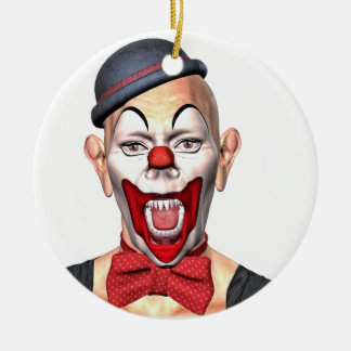 Killer Clown looking to the front Ceramic Ornament