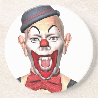 Killer Clown looking to the front Drink Coaster