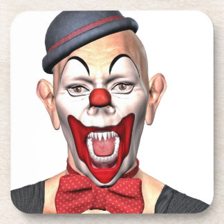 Killer Clown looking to the front Drink Coasters