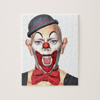 Killer Clown looking to the front Jigsaw Puzzle