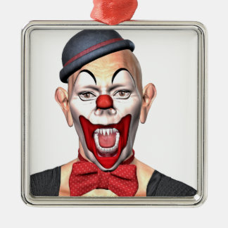 Killer Clown looking to the front Metal Ornament
