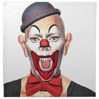 Killer Clown looking to the front Napkin