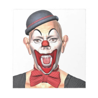 Killer Clown looking to the front Notepad