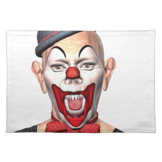 Killer Clown looking to the front Placemat