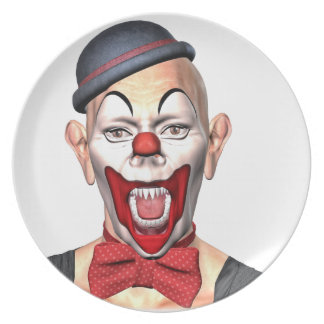 Killer Clown looking to the front Plate