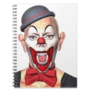 Killer Clown looking to the front Spiral Notebook