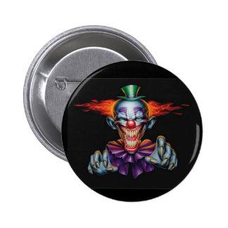 Killer Evil Clown 6 Cm Round Badge
