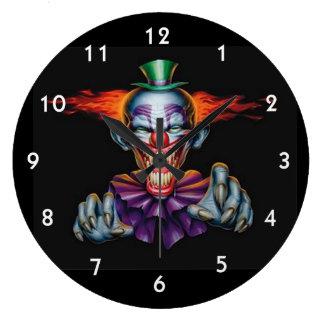 Killer Evil Clown Clock