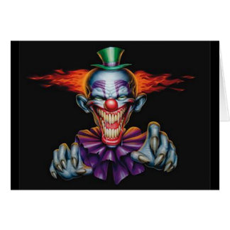 Killer Evil Clown Greeting Card