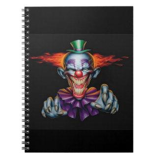 Killer Evil Clown Note Books