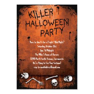 Killer Halloween Party with Skulls Card