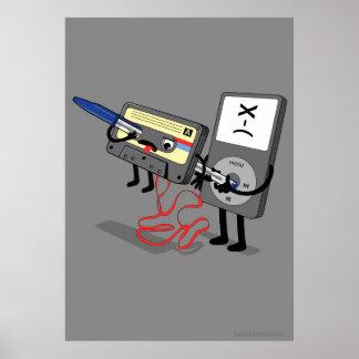 Killer Ipod Clipart (Retro Floppy Disk Cassette) Poster
