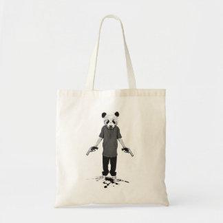 Killer panda budget tote bag