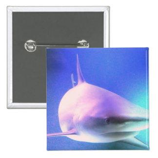 Killer Shark Square Pin