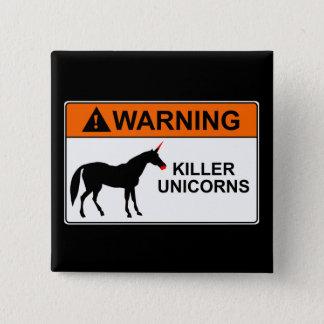Killer Unicorns 15 Cm Square Badge