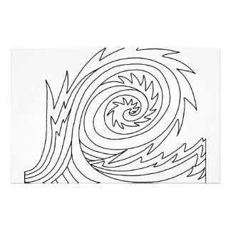 Killer Wave DIY Coloring Doodle gifts Customized Stationery
