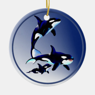 Killer Whale Family Ornaments
