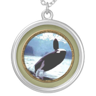 Killer Whale Silver Plated Necklace