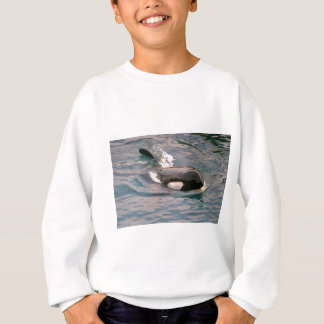 Killer whale swimming sweatshirt