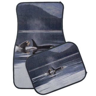 Killer Whales Car Mat