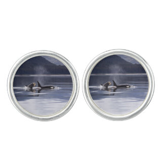 Killer Whales Cuff Links