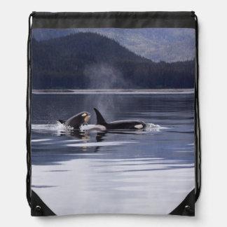 Killer Whales Drawstring Bag