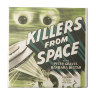 Killers from Space Ceramic Tile