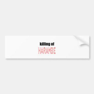 KILLING HARAMBE MEMORIAL SERVICE harambeismad inno Bumper Sticker