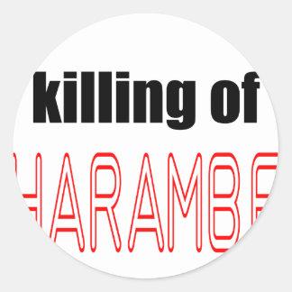 KILLING HARAMBE MEMORIAL SERVICE harambeismad inno Classic Round Sticker