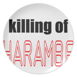 KILLING HARAMBE MEMORIAL SERVICE harambeismad inno Plate