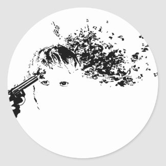 killing me softly classic round sticker