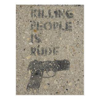 Killing People Is Rude Postcard