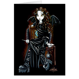 Killing Time Gothic Faerie Card