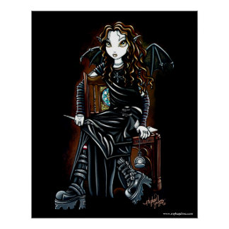 Killing Time Gothic Faerie Poster