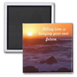 Killing time square magnet